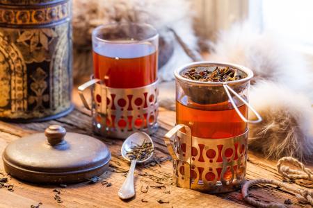 茶,玻璃,勺子,焊接