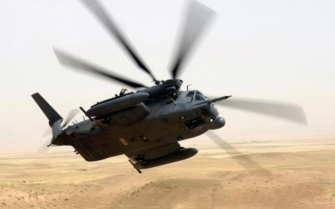 转,重型直升机,沙漠