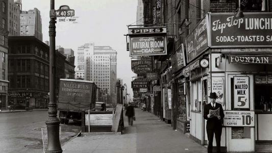 纽约市,1940年,城市,街道