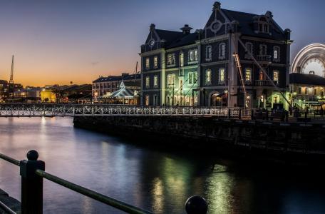 城市,晚上,河,桥,建筑物,灯,照明,世界城市,夜晚的城市,美丽