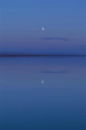 傍晚海边清新风景