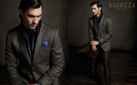 男人,经典的外套,风格