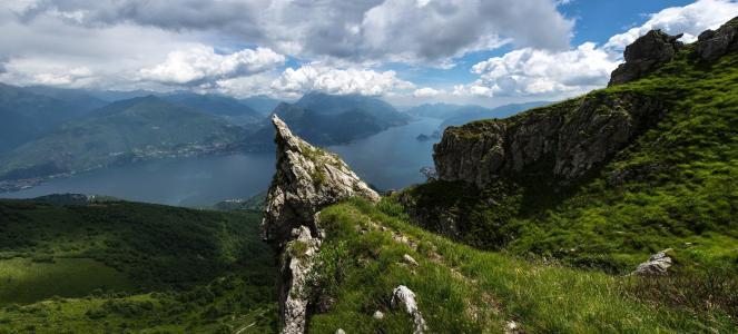 照片,山,意大利