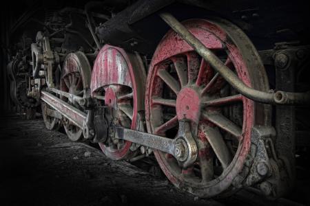 火车,特写,车轮,复古