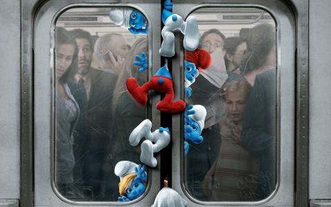 地下,电影,蓝精灵,纽约,侏儒,蓝精灵,纽约,车站