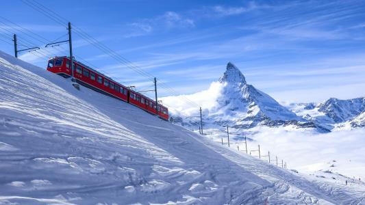 瑞士,雪,冬天