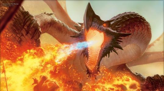 龙,嘴巴,火焰