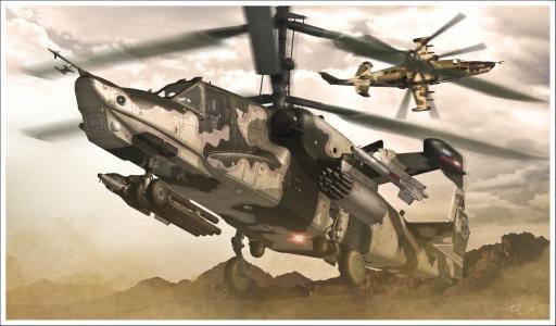 卡-50,直升机,黑鲨,航空,WWS