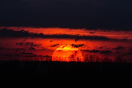 日落,太阳,性质