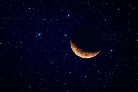 星星,月亮,月份,空间