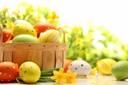 复活节,春天,复活节,假期,复活节,鸡蛋,黄色