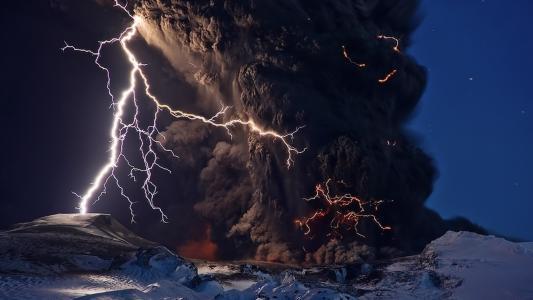 元素,火山爆发,火山