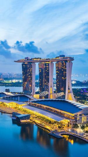 新加坡滨海湾金沙酒店的风景