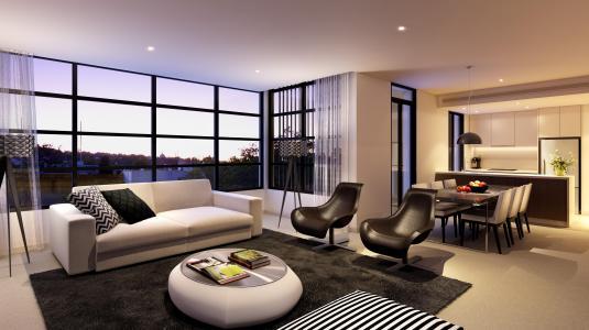 公寓,室内,设计,风格,房子,客厅