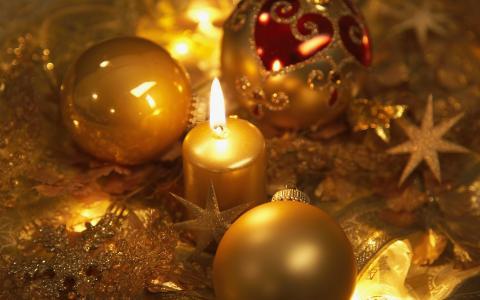 新年,球,圣诞装饰品,球,假期