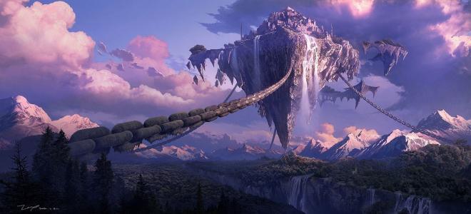 艺术,峡谷,城市,森林,张一新,飞岛,群山