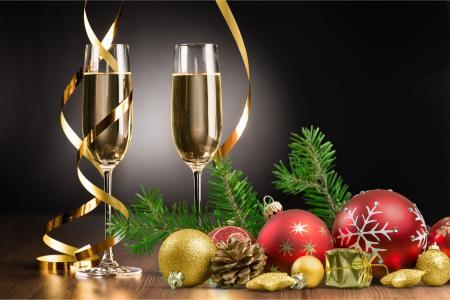 假期,新年,眼镜,香槟,蛇纹石,玩具,球,分支机构,云杉,毛皮树