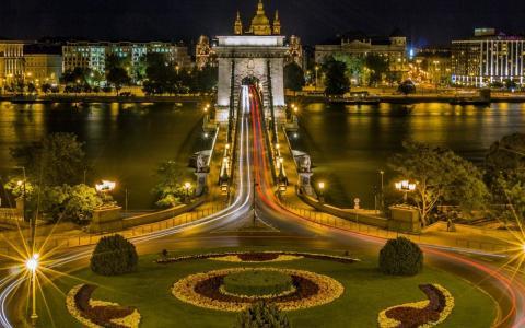 布达佩斯,匈牙利,桥,river.city