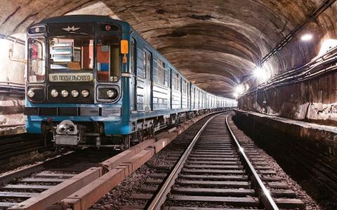 地铁,火车,灯