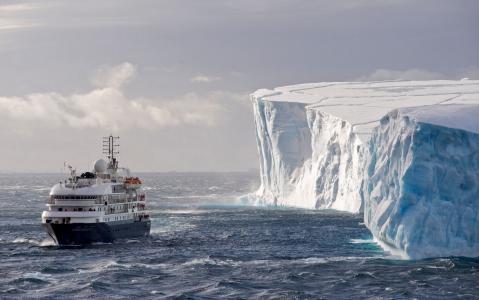 冰山,海洋,船舶,探险家,人民