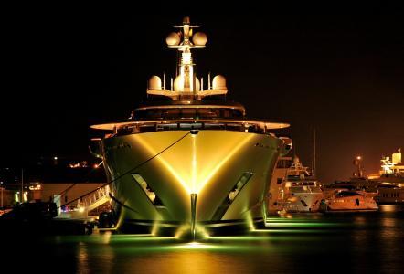 游艇,性质,照片,端口,贵宾,主题