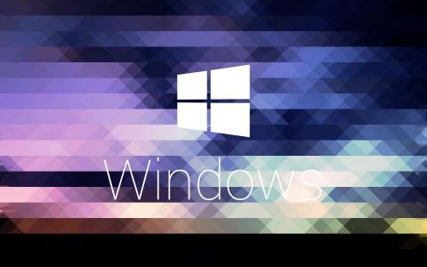 Windows,微软,标志,标志,马赛克,纹理,颜色,网格,三角形,像素化