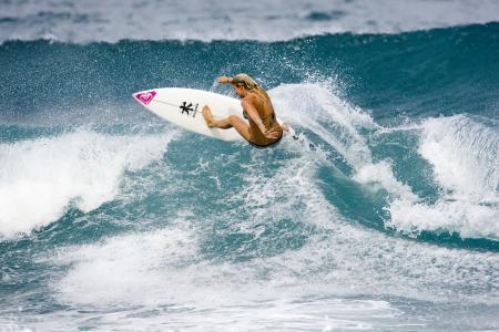 运动,海洋,冲浪,女孩,董事会,冲浪