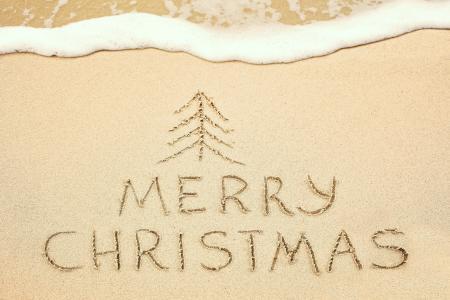 圣诞快乐,沙滩