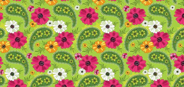 鲜花,装饰,模式,绿色背景,纹理,花瓣