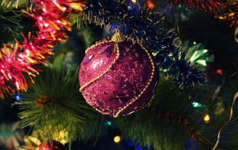 假期,新年,圣诞树,玩具