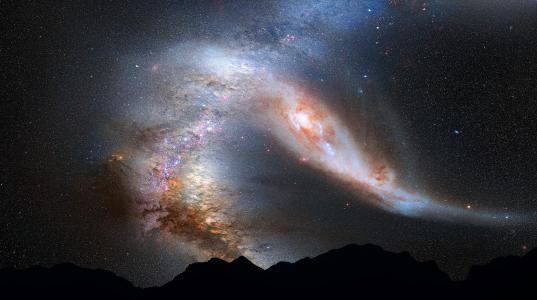 合并,andromeda,m31,星系,银河系