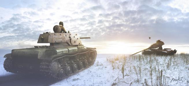 骨架,呈现,雪,坦克,kv-1,登山者伏罗希洛夫,油轮