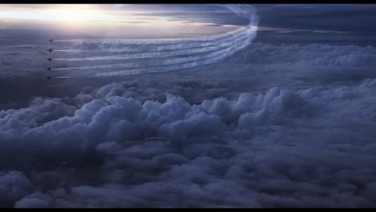 云,天空,故事,追踪