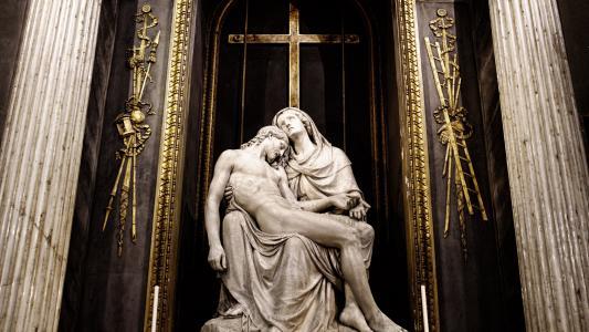 宗教,雕塑,圣玛丽,Jessus