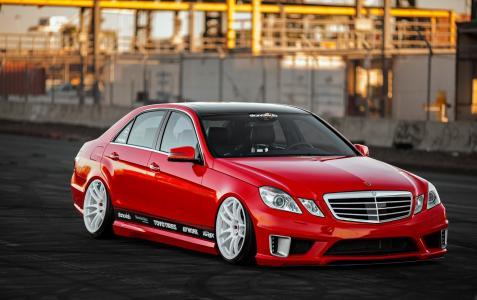奔驰,超级跑车,调教,奔驰,红色,帅气