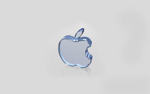 标志,玻璃,苹果,苹果