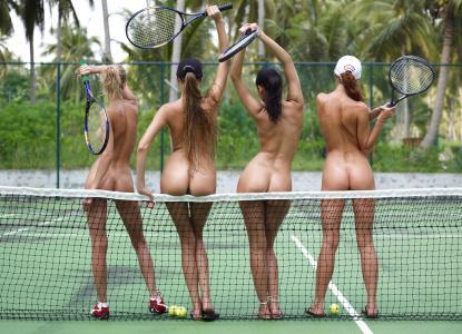 女孩,网球,玩