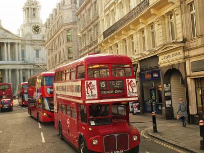 伦敦,街道,巴士,复古