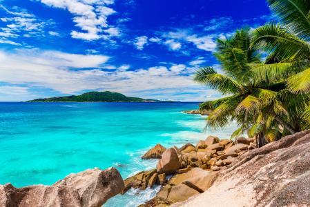 岛屿,热带地区,塞舌尔,天堂,海洋,美丽,超级照片