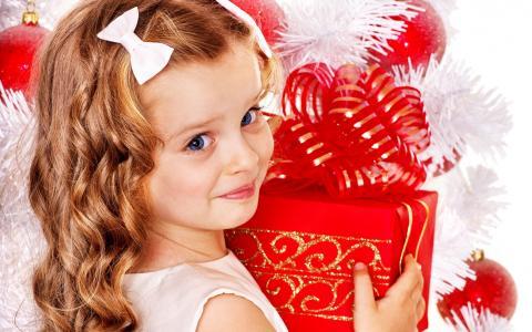女孩,新的一年,玩具,礼物,假期