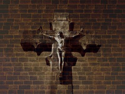 墙,十字架,背景