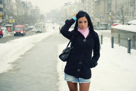 冬天,汽车,模型,阿什丽宝格丽