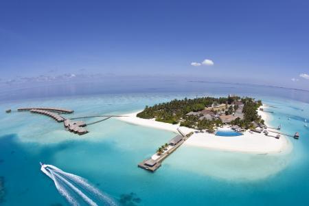马尔代夫,岛,心,海洋,超级照片,项目