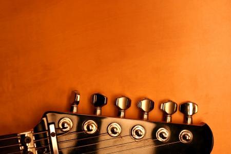 吉他,别针,字符串,橙色背景,闪烁