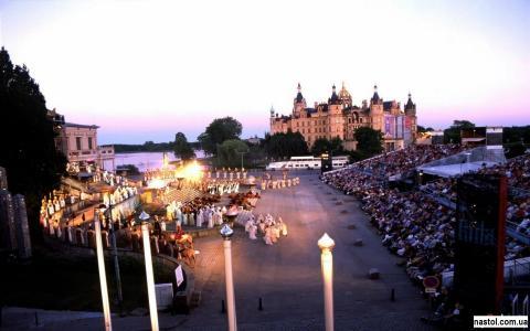 画廊,城堡,建筑,有趣的地方,德国,城市,什未林,什未林城堡,有趣