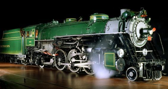 机车,货车,铁路,蒸汽,晚上