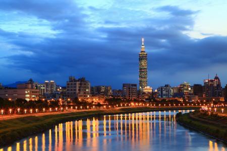 河,城市,晚上,cpl,天空,台北,中国,台湾
