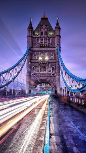 绚丽伦敦塔桥夜景风光
