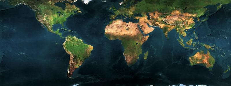 星球,世界地图,绿色大陆