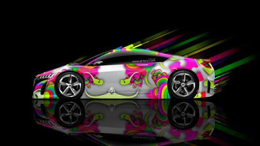 托尼·科汉,本田,NSX,摘要,气象学,汽车,eQ,Multicolors,高清壁纸,埃尔托尼汽车,风格,设计,艺术,托尼·科汉,Photoshop,风格,本田,侧视图,